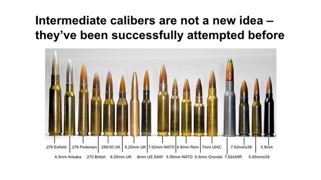 Fig 3 - Historical intermedaite calibers