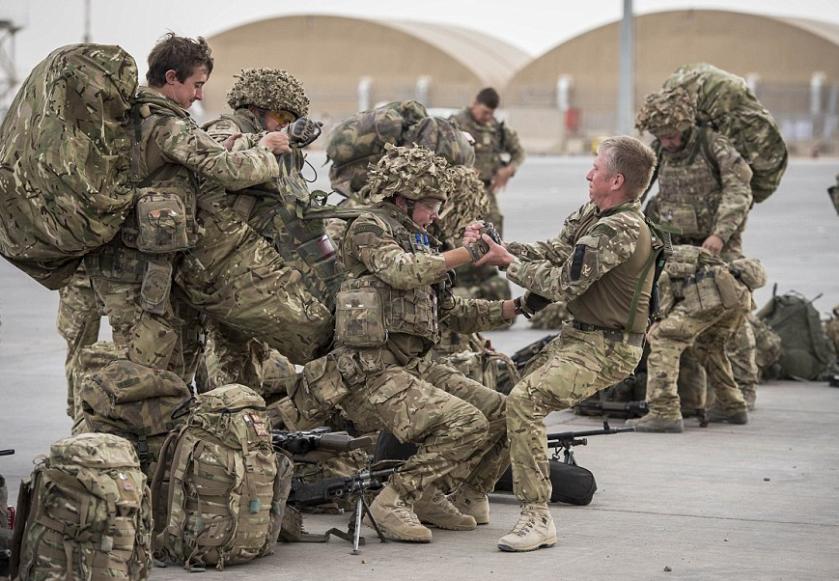Overburdened soldiers
