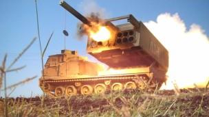 M270 GMLRS launcher