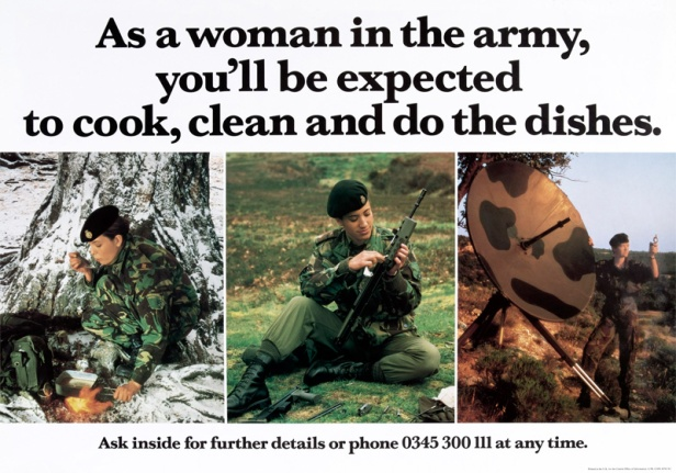 Army female soldiers ad 1990