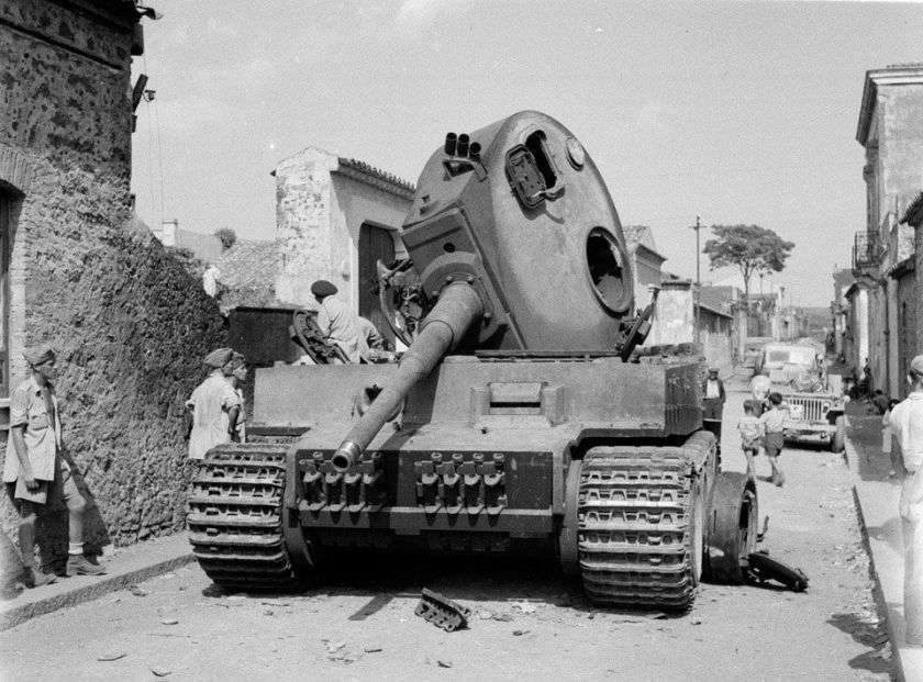 Tiger knocked out Belpasso Sciily, 1943