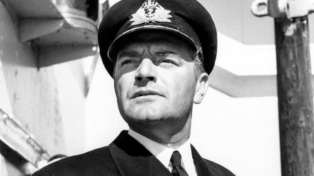 Actor Jack Hawkins in the film, The Cruel Sea.