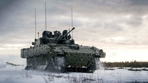 AJAX Scout vehicle In-Country cold weather system trialling at Tame Ranges in Sweden