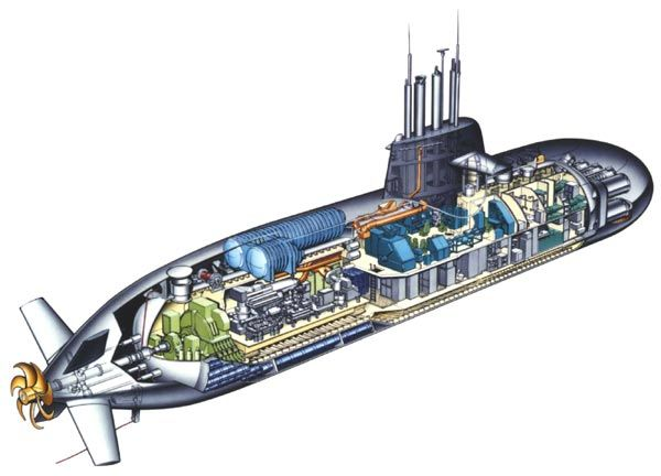 Diesel-electric AIP submarine