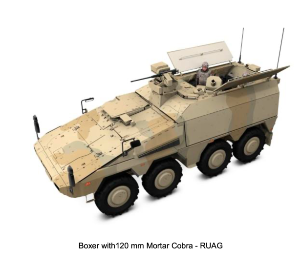 Boxer RUAG 120 mm mortar
